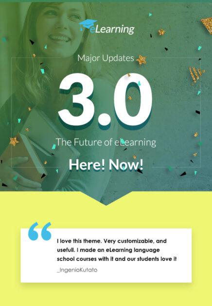 eLearning WordPress LMS 3 lançado