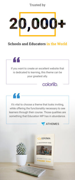 Education WordPress theme - Trusted by 19K customers