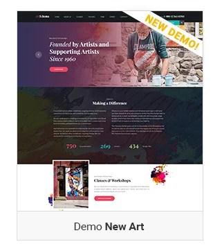 New Art - Education WordPress Theme