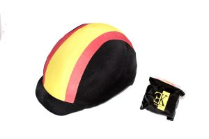KLES´S Funda para Casco de Equitación Diseño Bandera España. Equestrian Hat Cover.