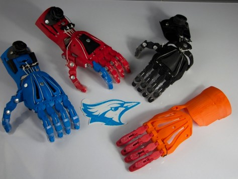 Cyborg Beast 3D-printed hand from Thingiverse