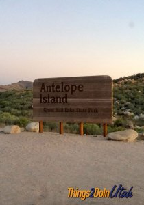 Antelope Island Sign