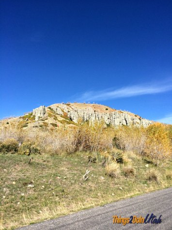 Rock formations at Nebo Loop