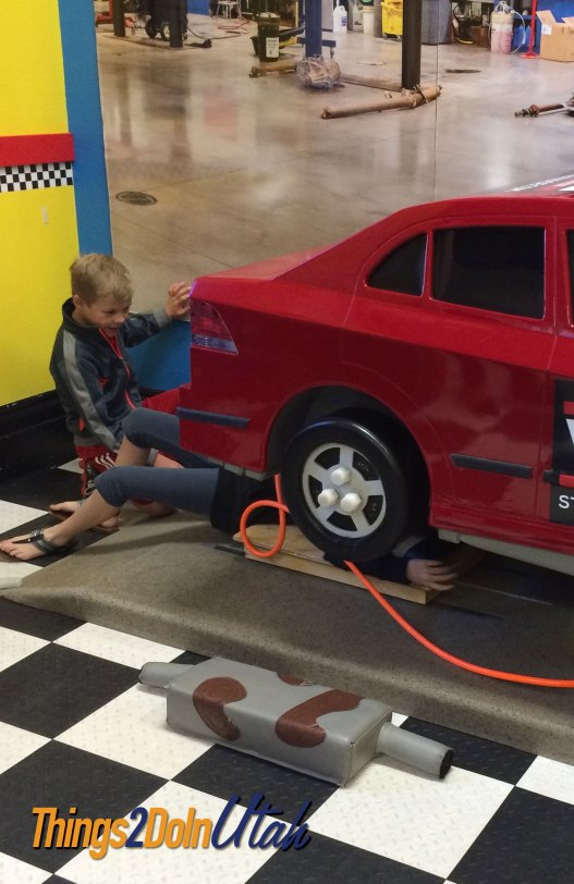 Fix a car at children's museum