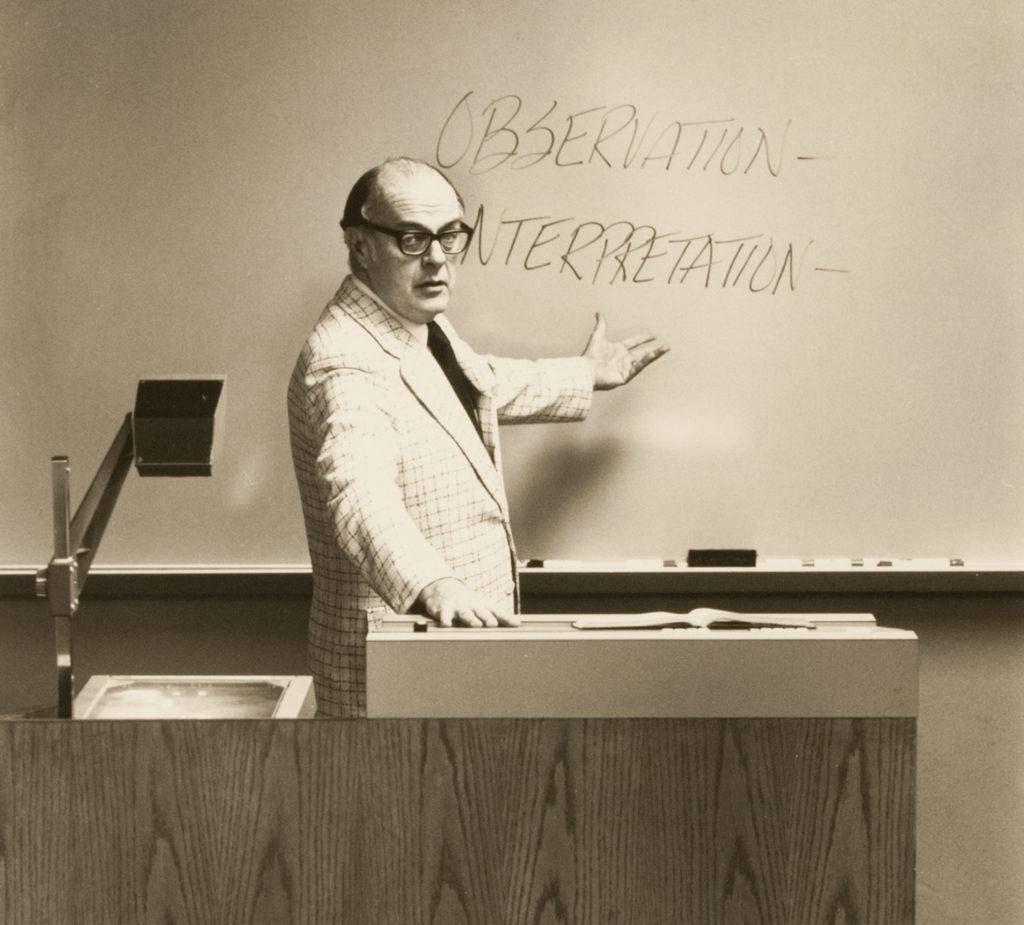 Prof. Howard Hendricks, circa 1979.