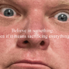 Satire image of former Toronto mayor Rob Ford in a Colin Kaepernick-style Nike ad.