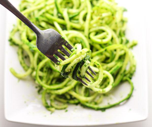 Kale Pesto Angel Hair Pasta