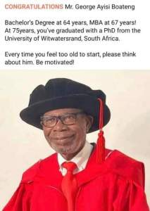 75 Year-Old Man Bags PhD After Getting First Degree at 64. Thingscouplesdo