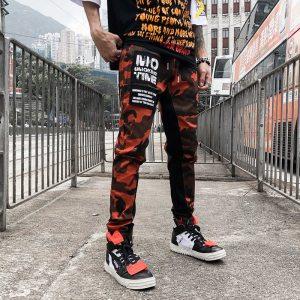 02491bd1db Fashion Camo Patchwork Cargo Pants Men's Hip Hop Casual Camouflage Trousers  Fashion Streetwear Joggers Sweatpants