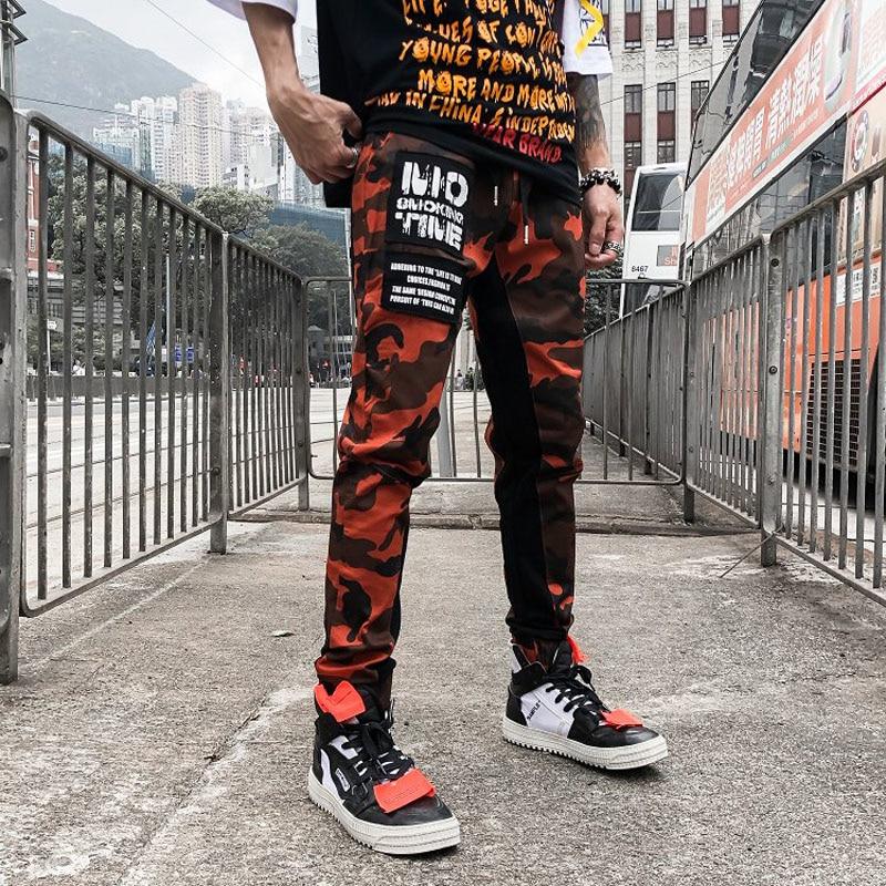 6217c09a1 Home / MEN / Men Bottoms / Fashion Camo Patchwork Cargo Pants Men's Hip Hop  Casual Camouflage Trousers Fashion Streetwear Joggers Sweatpants