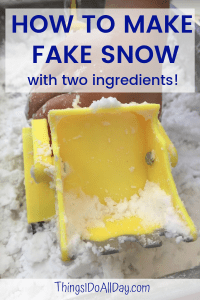 How to Make Fake Snow with Toddlers and Kids with an easy play snow recipe!