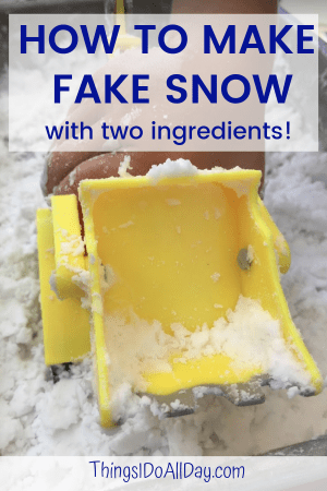 Easy Fake Snow Recipe for Kids