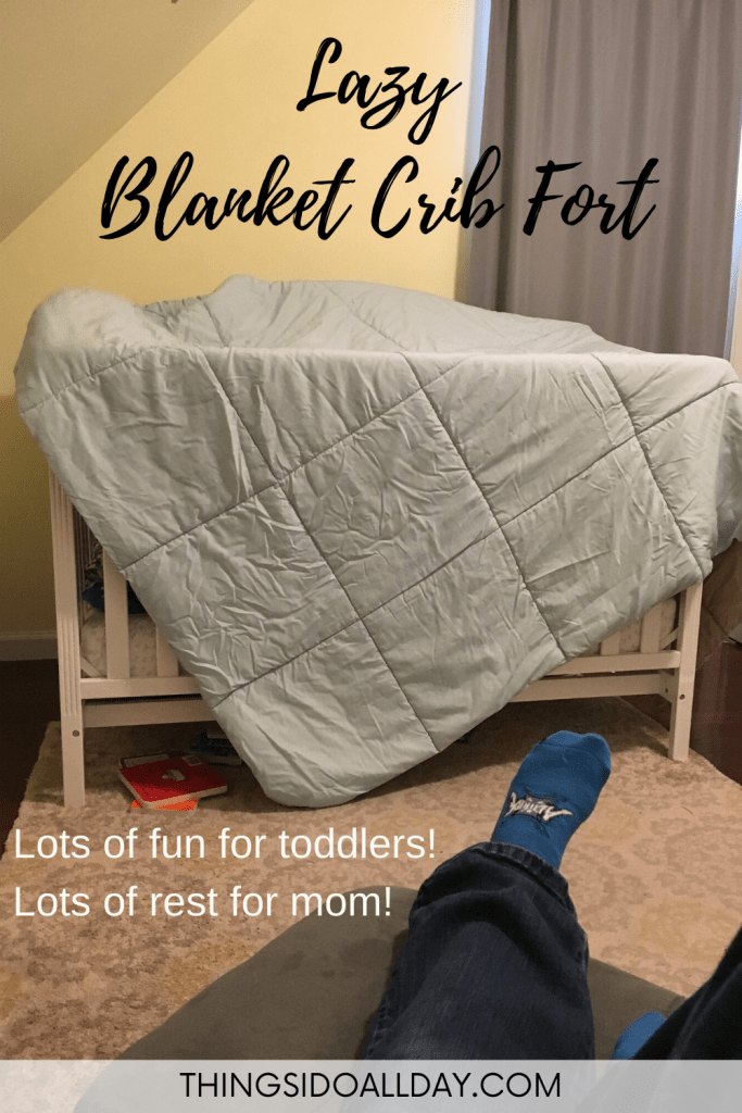 Easy Blanket Crib Fort for Babies and Toddlers