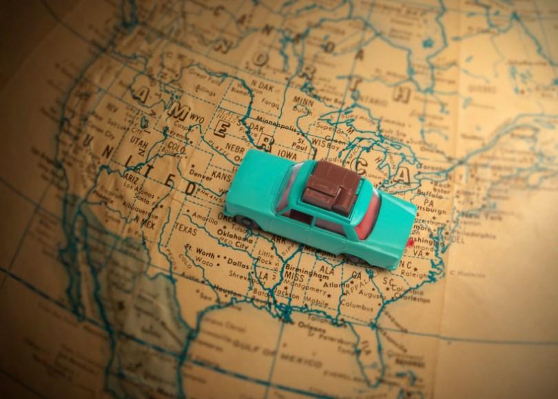 Globetrotting car holiday vacation