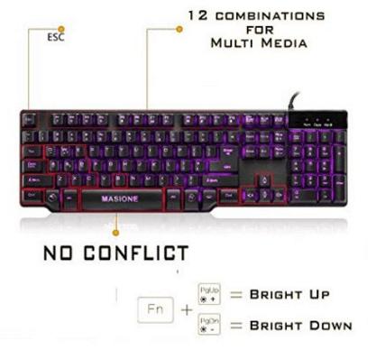 masione led keyboard