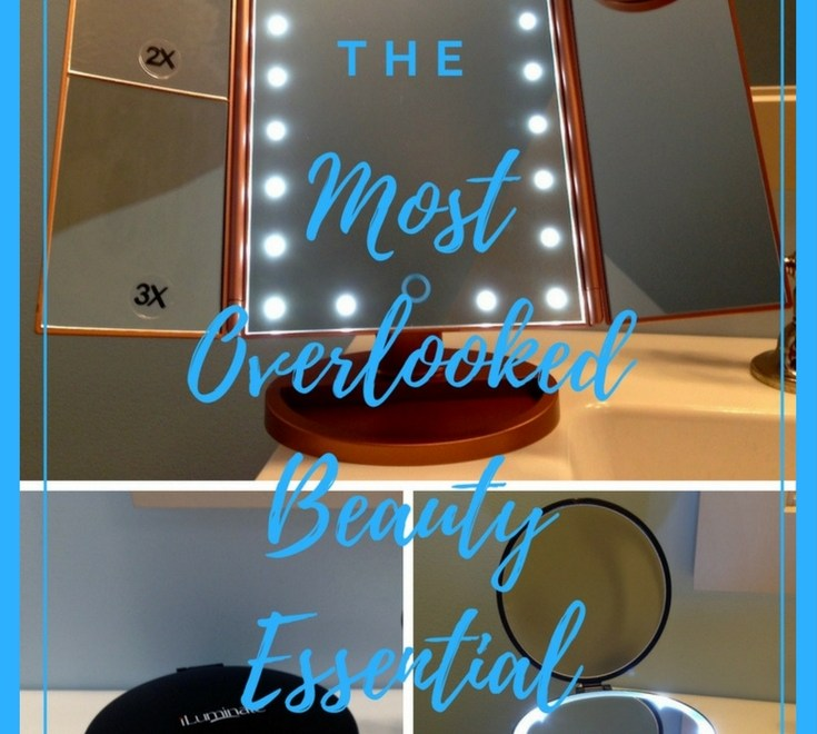 The Most Overlooked Beauty Essential-Illuminate Essentials LED Lighted Mirrors-vanity top and handheld travel
