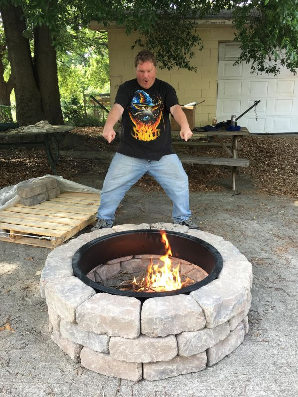 The Ashland Concrete Firepit Kit From Lowe's | Things That ...