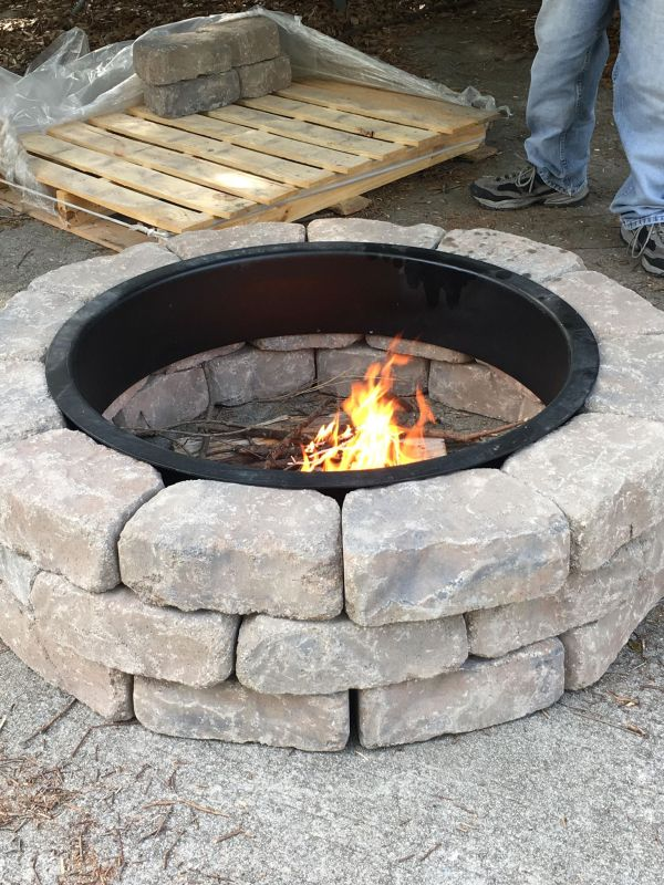 The Ashland Concrete Firepit Kit From Lowe S Things That Make People Go Aww