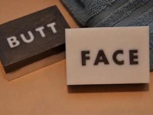 Butt-Face Soap