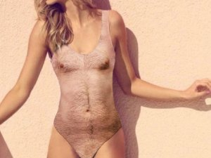 Sexy Chest Tan Swimsuit