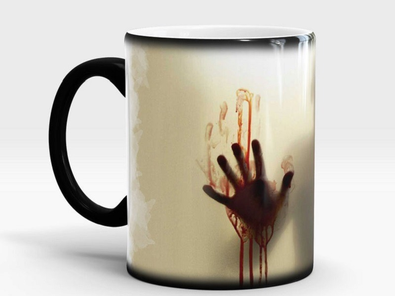 Zombie Walking Dead Color Changing coffee mug