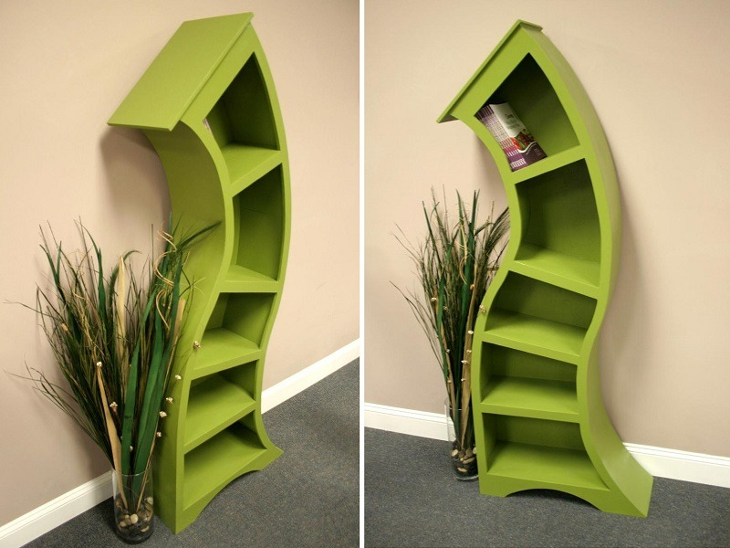 Handmade Curved Bookshelf