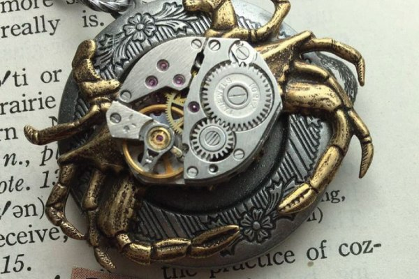 Steampunk Crab Locket