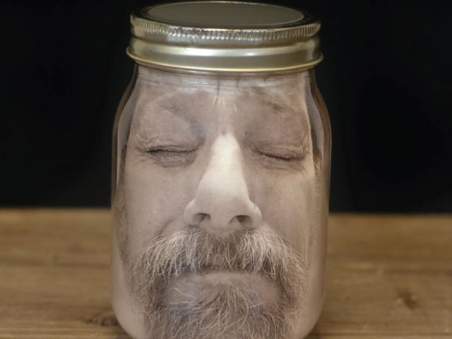 Your face in a jar