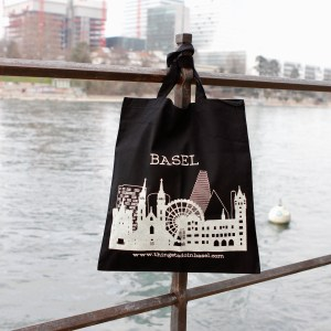 The Basel Bag - white on black
