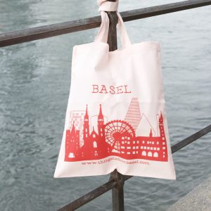Basel bag - red on pink