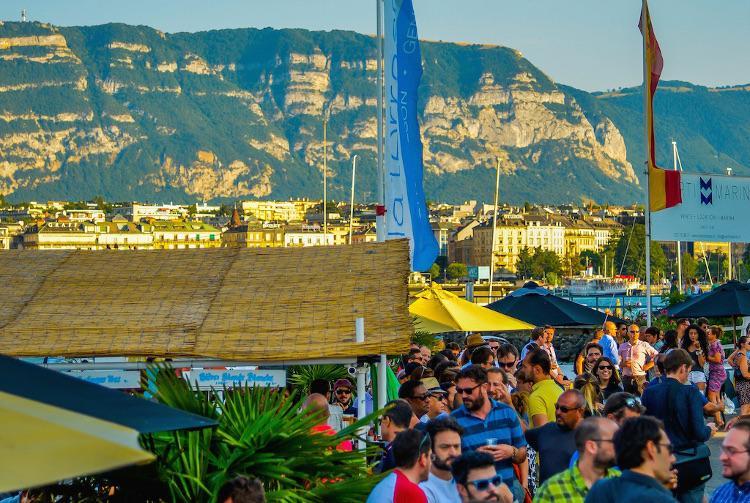 lakeside terraces in Geneva 2019