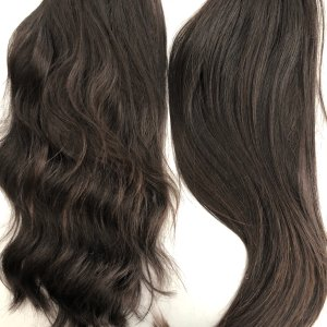 Depicts one hair topper example in long length
