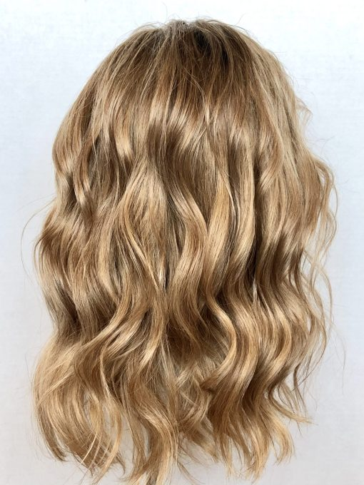 Rooted Honey Blonde Hair Topper