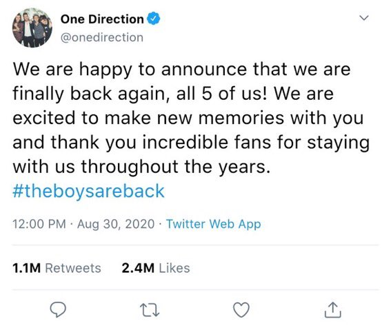 Is One Direction Getting Back Together ?