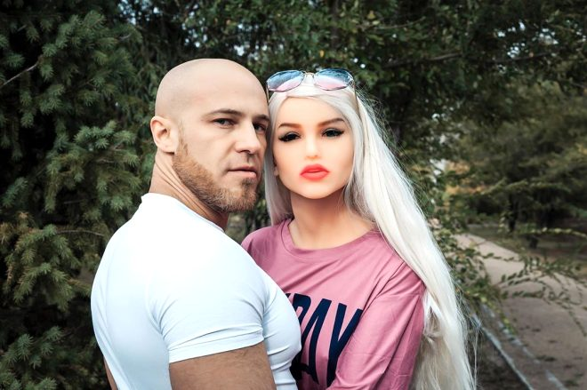 A Bodybuilder Yuri Toluchko Married A Doll