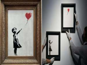 Banksy's 'The Girl With The Balloon' Sold For Over $4 Million