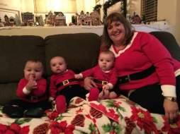 Me and some adorable babies, Christmas 2015, 290 lbs
