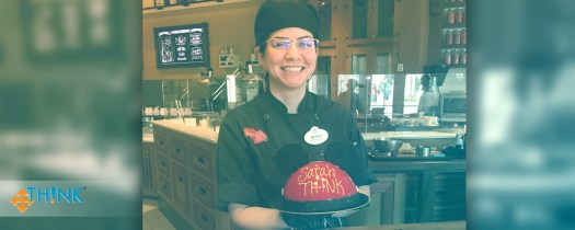 Learning to Expand My Baking Skills at Disney World - TH!NK Training - 03 Baking teacher with the final product