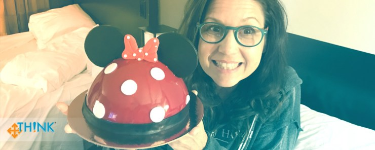 Learning to Expand My Baking Skills at Disney World - TH!NK Training - 06 Sarah and the cake