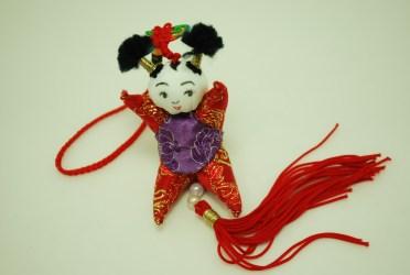 鹿港周月容女士的女娃娃香包