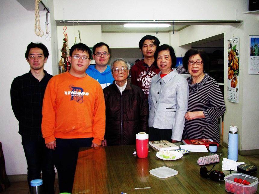 本文作者參與林美容教授訪談工作拜訪劉枝萬先生