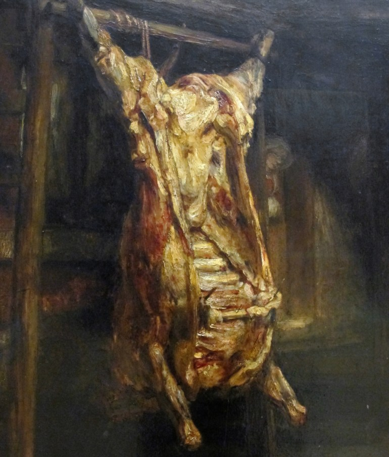 Rembrandt, The Slaughtered Ox van Gogh Think IAFOR