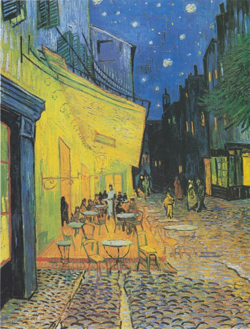 Cafe Terrace on the Place du Forum, Arles, at Night, van Gogh