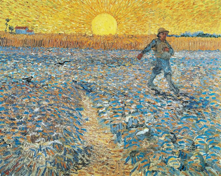 The Sower with Setting Sun – Vincent van Gogh (1888)