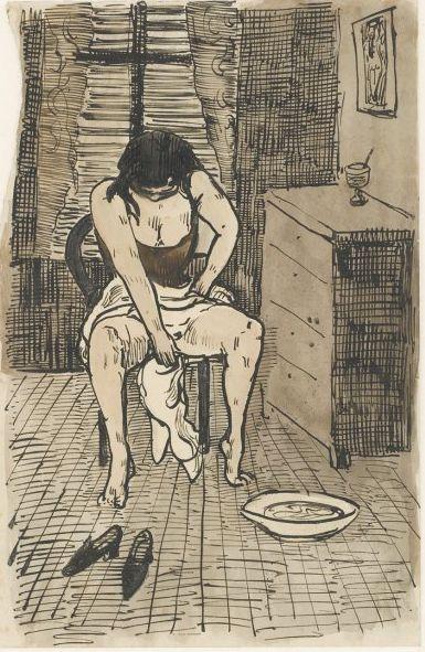 A Woman Washing Herself – Émile Bernard