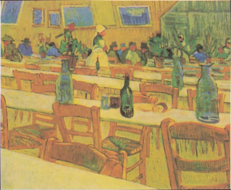Interior of the Restaurant Carrel in Arles – Vincent van Gogh (1888)