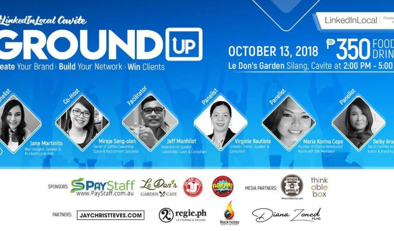 1st LinkedIn Local Cavite Event: Ground Up