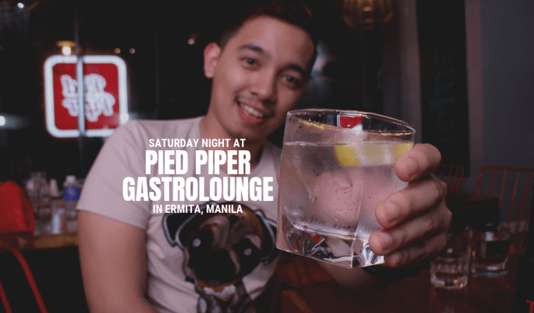 Saturday Night at Pied Piper Gastrolounge in Ermita, Manila