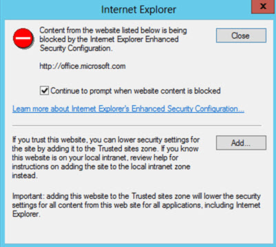 How to disable Internet Explorer Enhanced Security on Azure VM for Dynamics NAV?