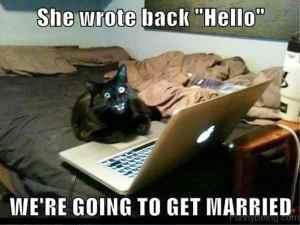 We're going to get married joke meme